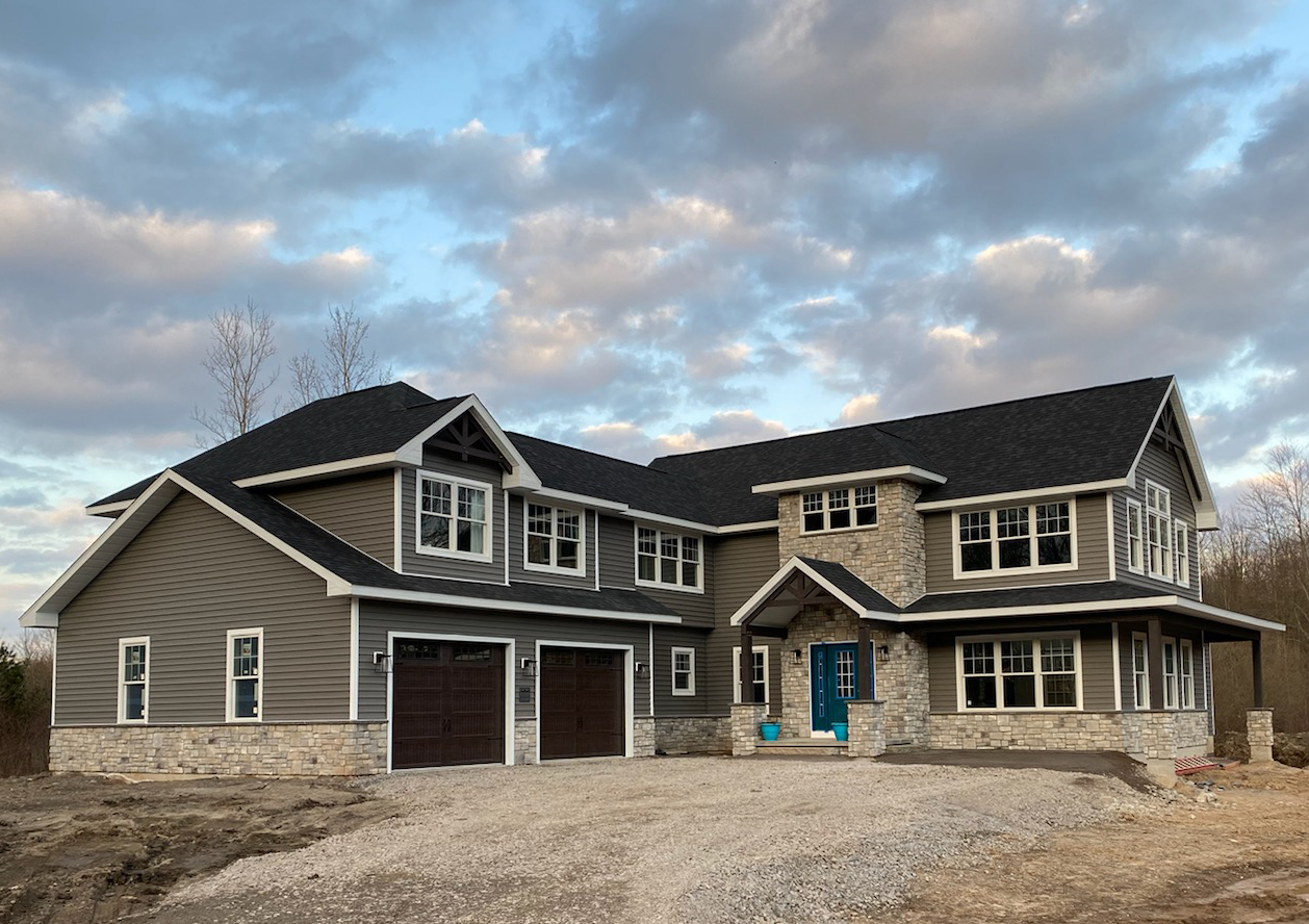 photo of a luxury home being buit by DRF Design in Akron NY