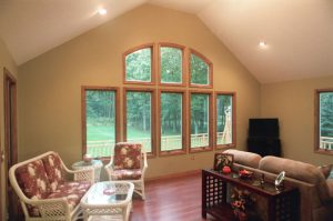 photo of a sunroom addition, ranch home by drf design